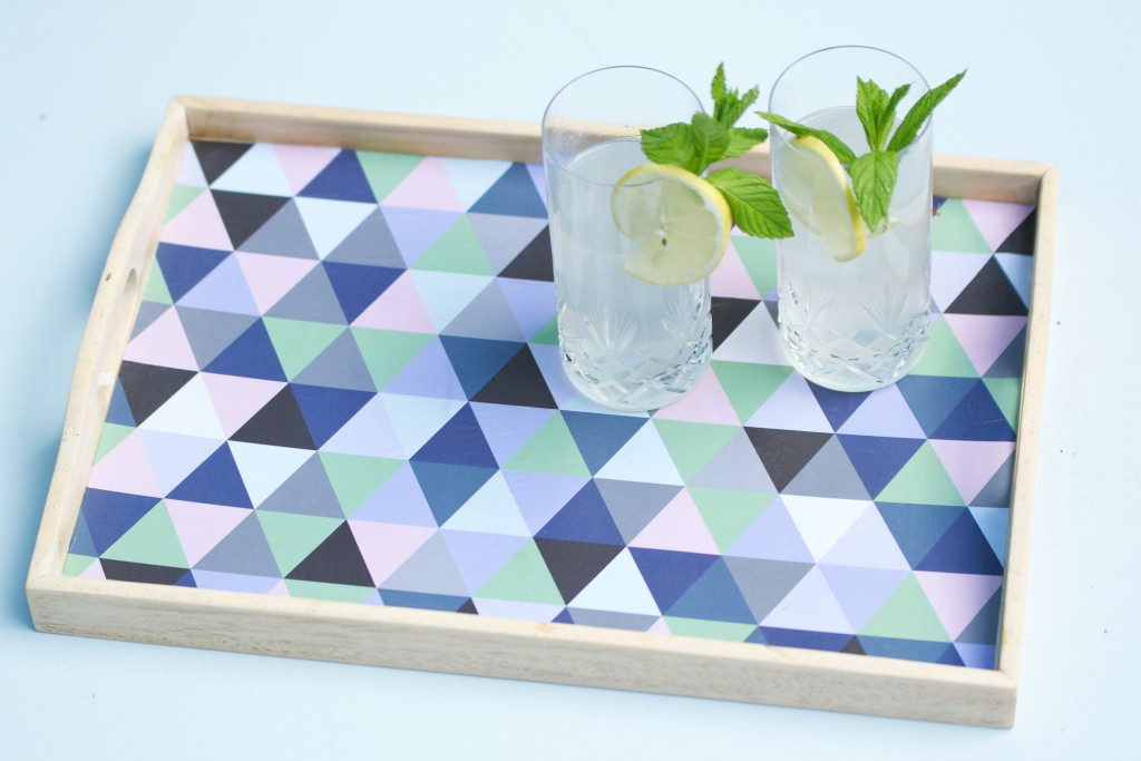 DIY Upcycled Geometric Tray Tutorial | HungryHeart.se