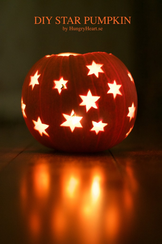 DIY Star Pumpkin | HungryHeart.se