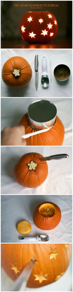 DIY Star Pumpkin Tutorial | HungryHeart.se