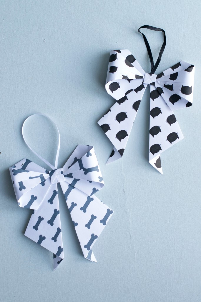 DIY Origami Bow Ornament | Hungry Heart