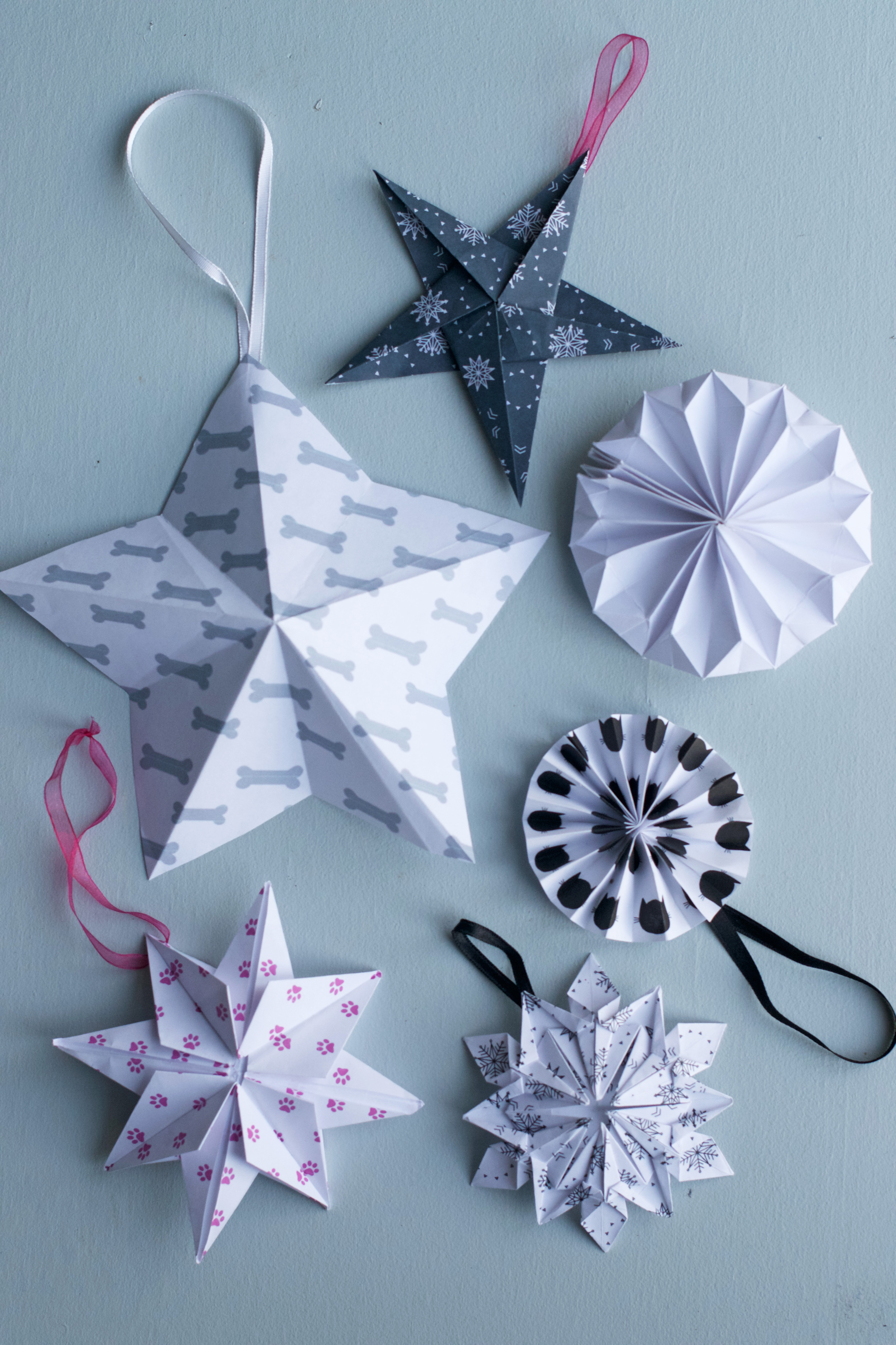Diy star origami ornament origami star - Diy Origami Stars And Snowflakes Hungry Heart