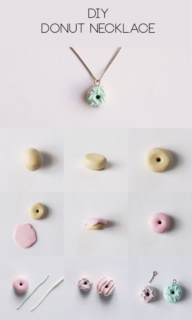 DIY Clay Donut Necklace Step-by-Step Tutorial | HungryHeart.se