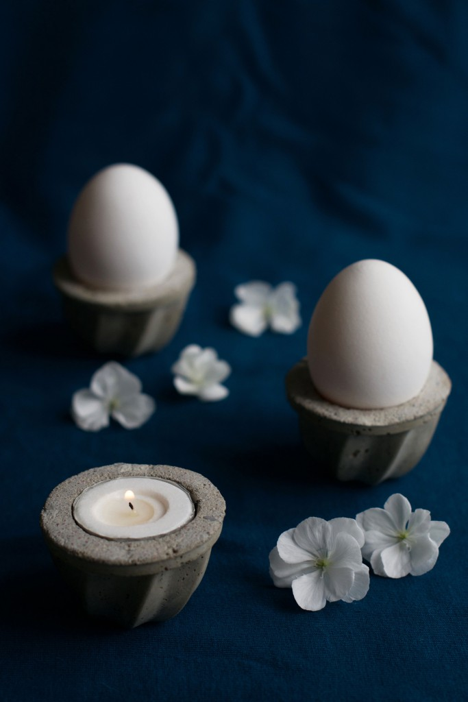 DIY Concrete Votive + Egg Cups Tutorial | HungryHeart.se