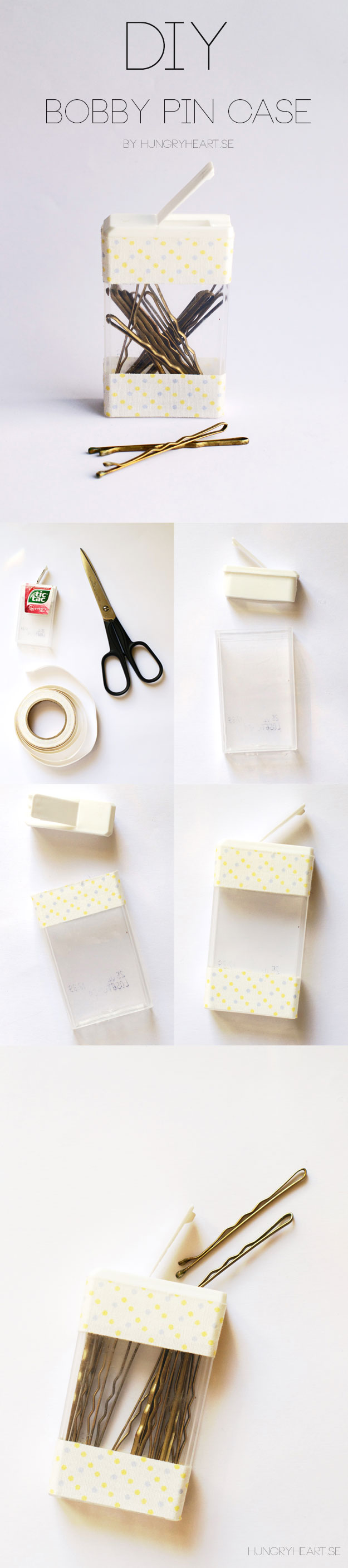DIY Bobby Pin Case Tutorial | HungryHeart.se