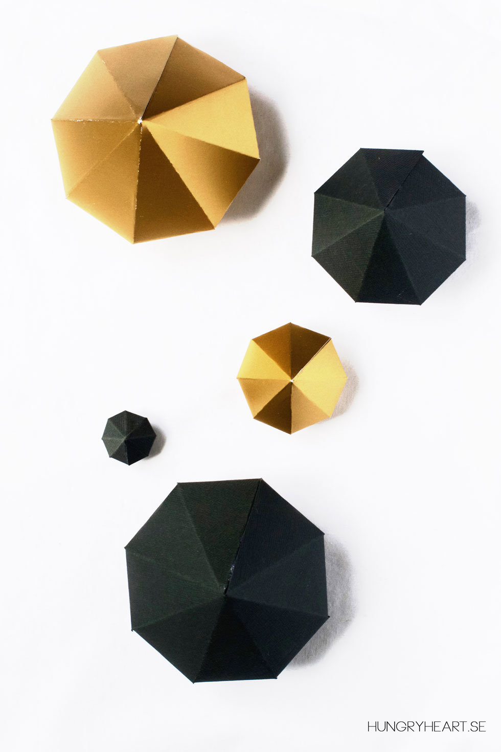 DIY Paper Diamonds with FREE Template | Hungry Heart