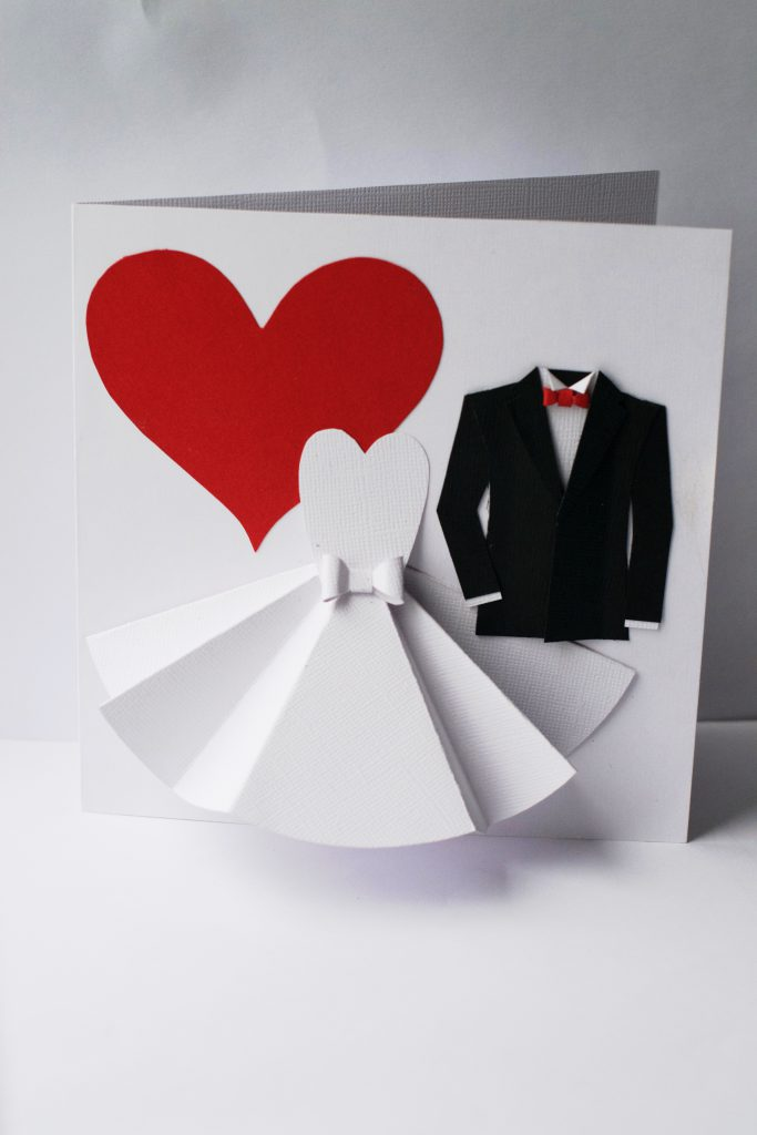 DIY Wedding Card | HungryHeart.se