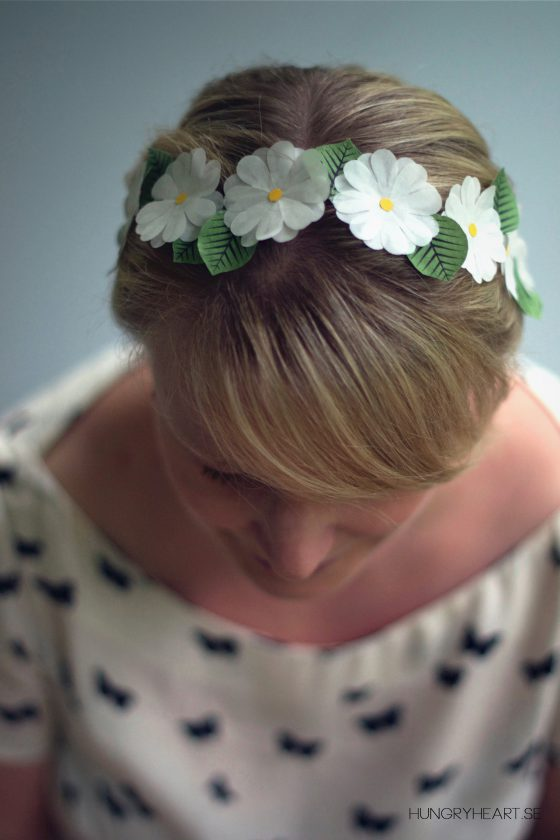 DIY Muffin Liner Flower Crown Tutorial | Hungry Heart