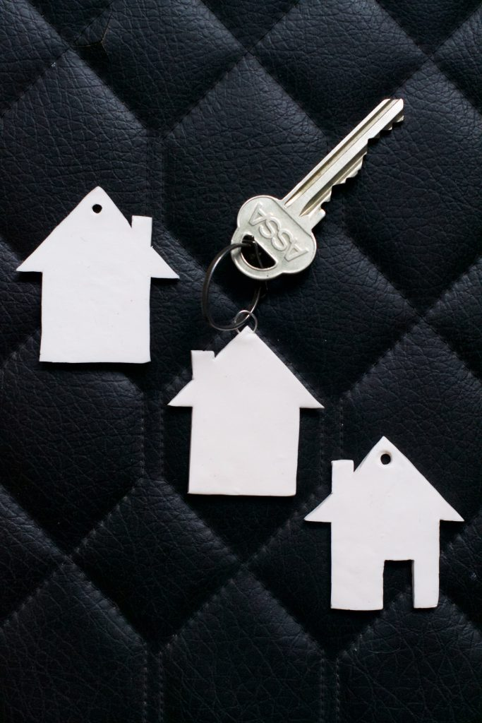 DIY Clay House Keyring Tutorial with FREE Template | HungryHeart.se