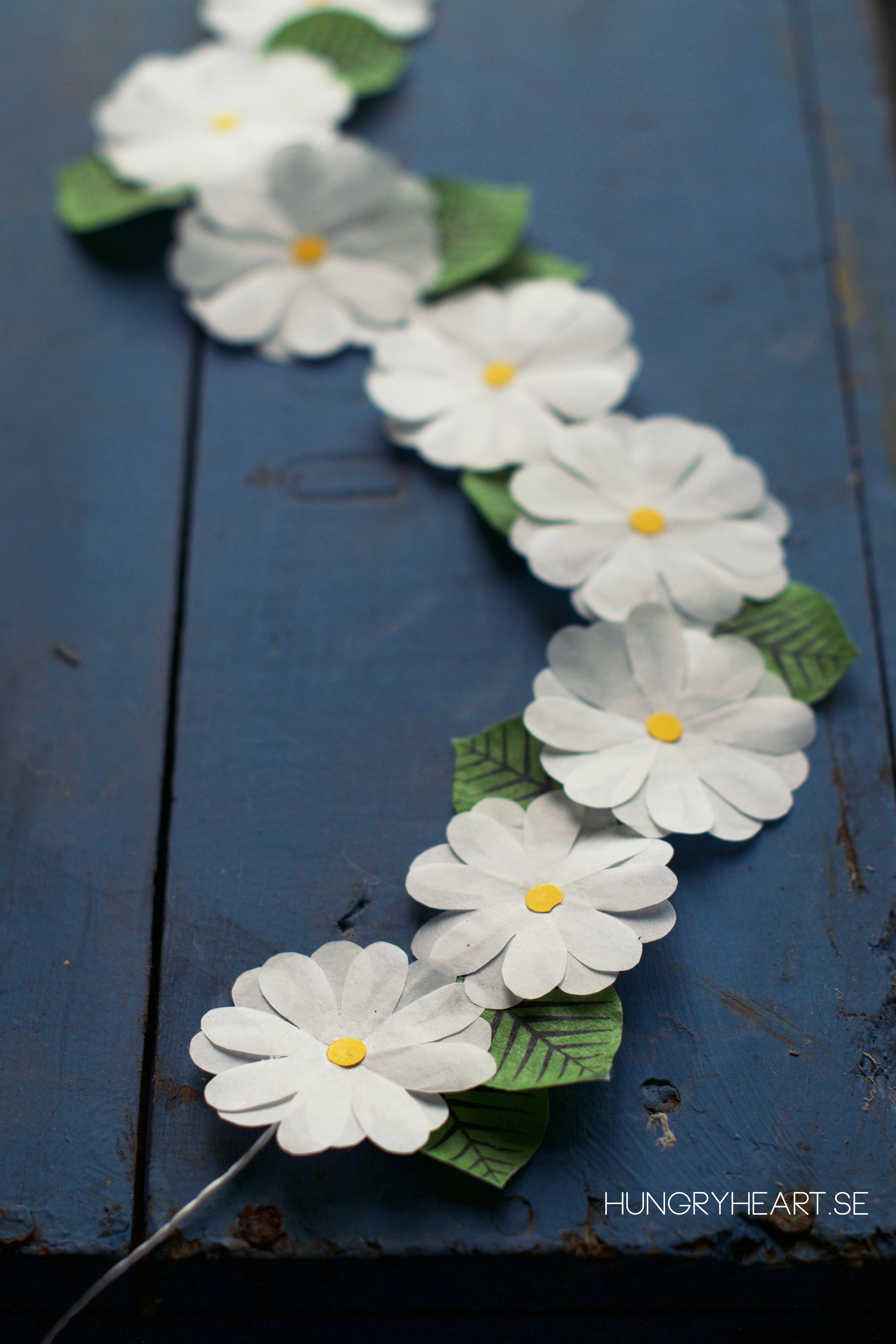 Diy Cupcake Liner Flower Crown Tutorial Hungry Heart