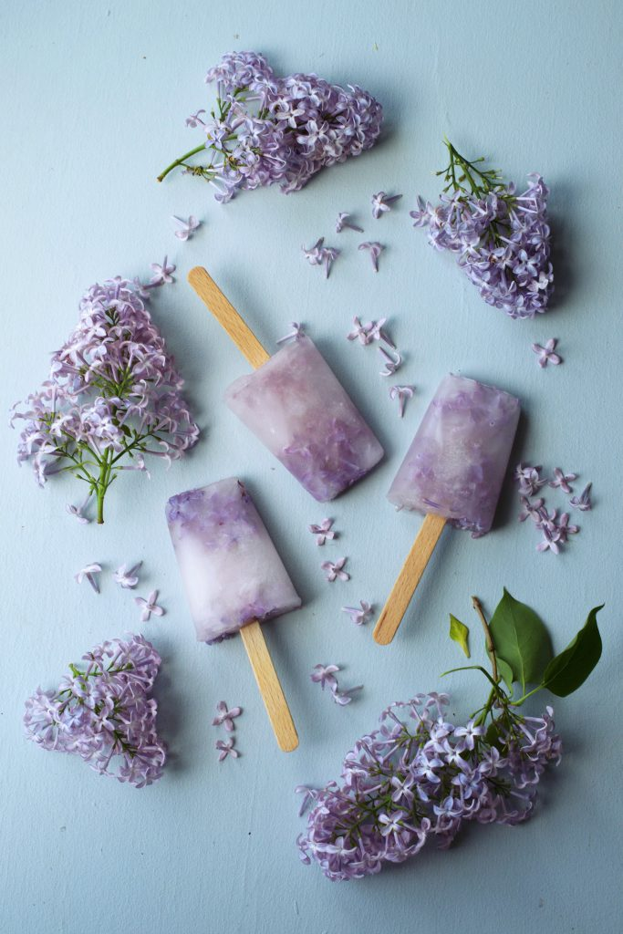 Lilac Flower Popsicles | Hungry Heart