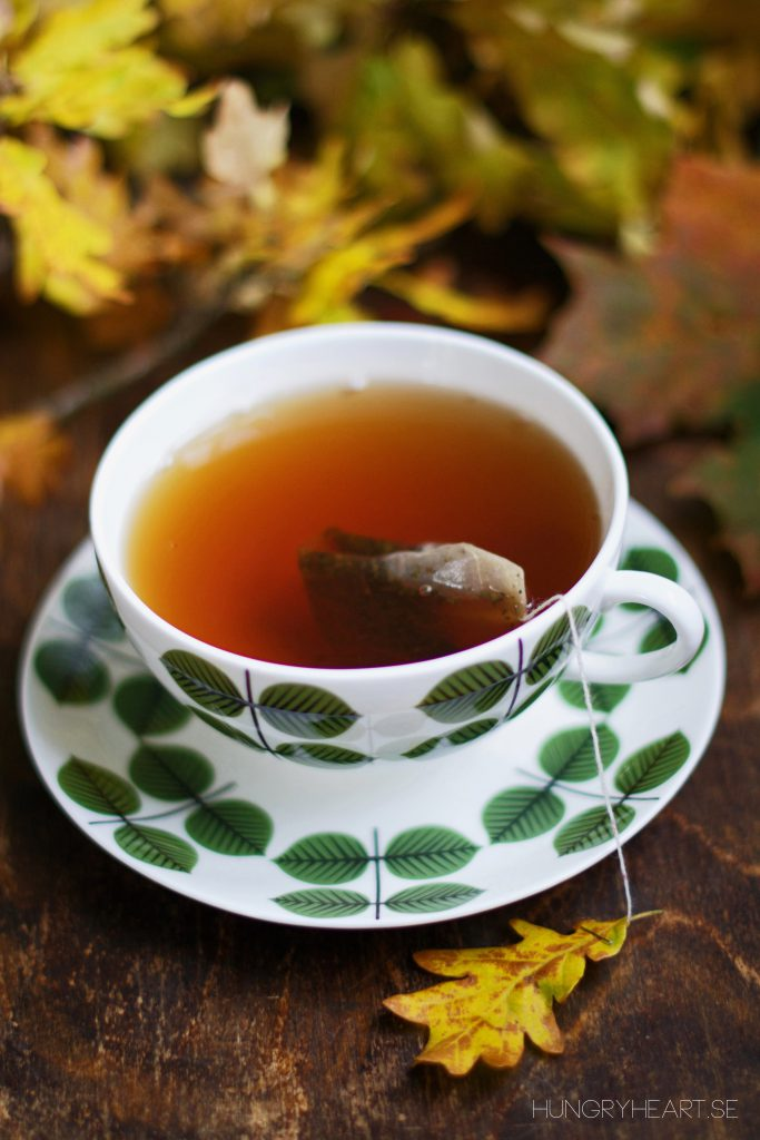 DIY Fall Leaf Tea Bags Tutorial | Hungry Heart