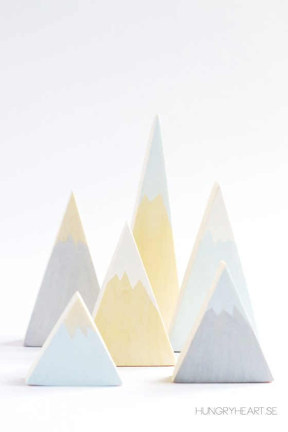 DIY Wooden Mountain Decor & Toy | Hungry Heart