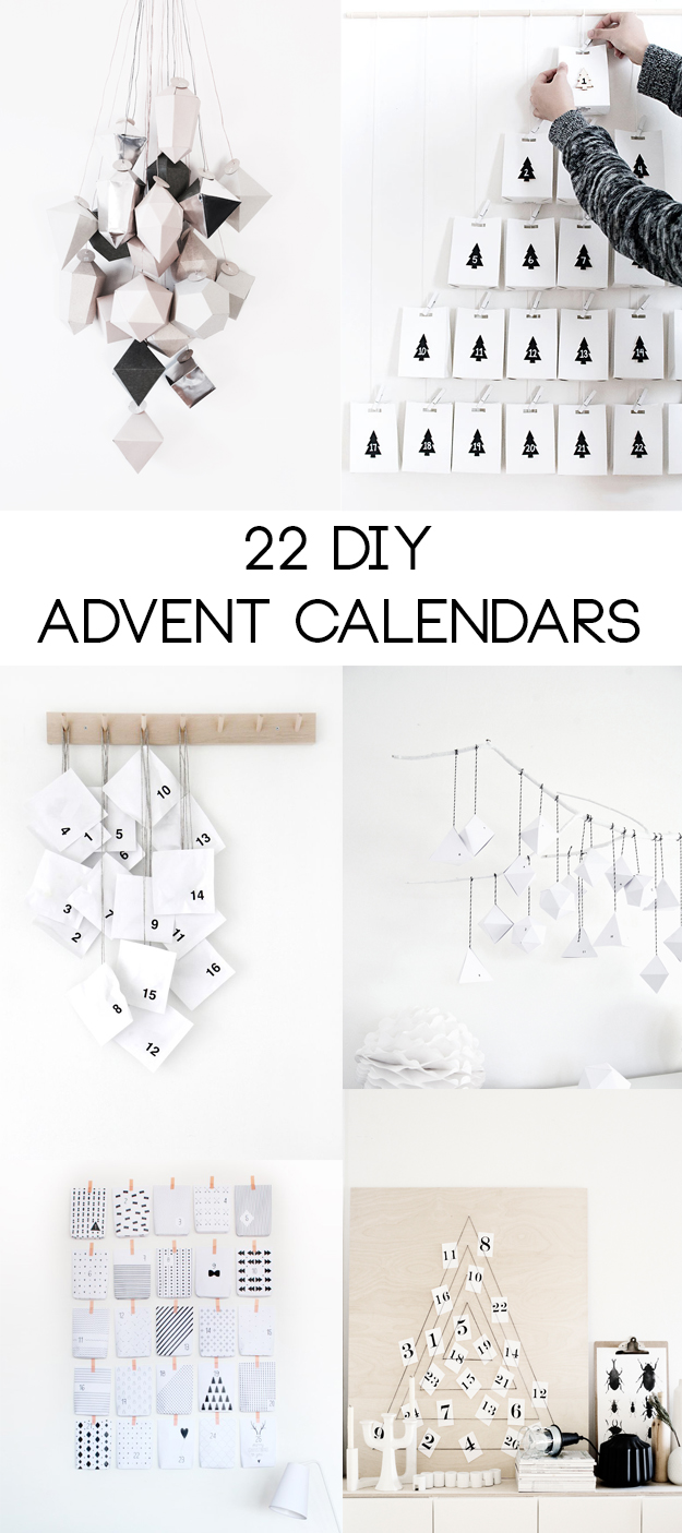22 DIY Advent Calendars | Hungry Heart