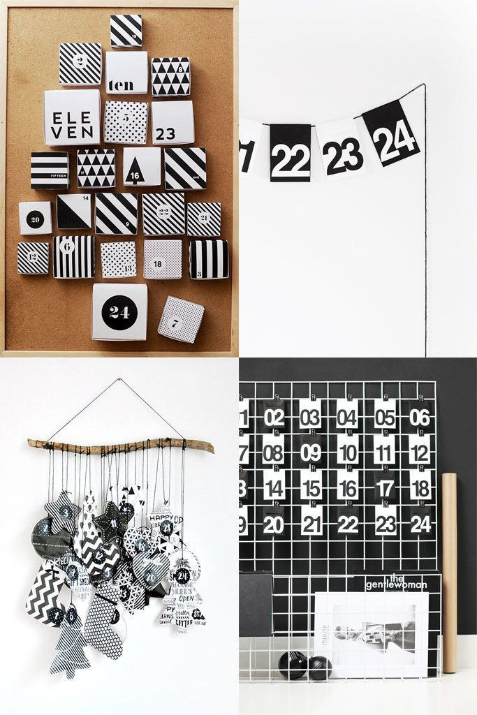 DIY Black & White Advent Calendars | Hungry Heart