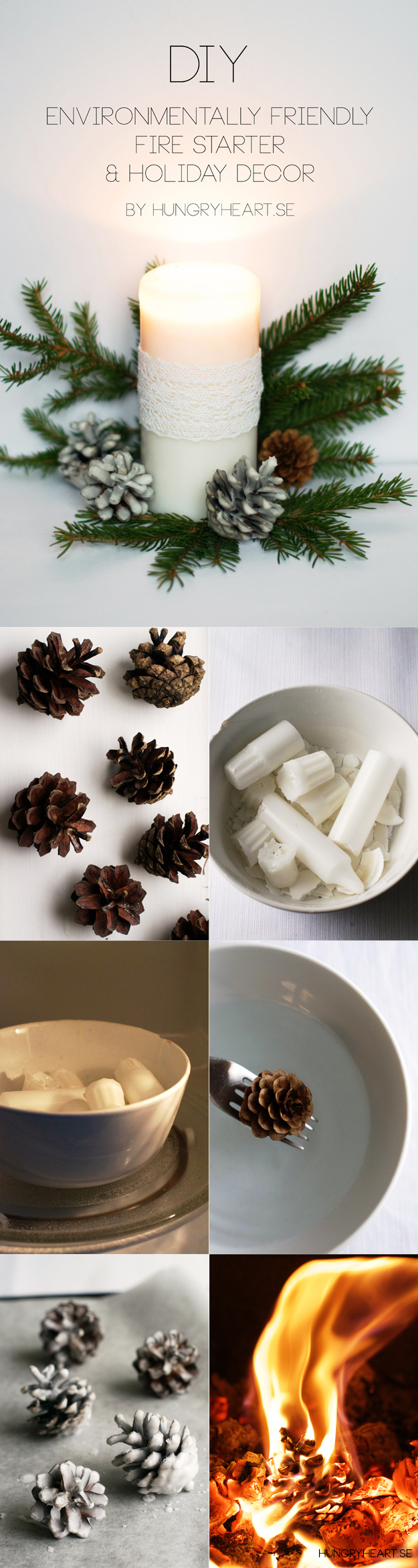 DIY Pine Cone Fire Starters Tutorial | Hungry Heart