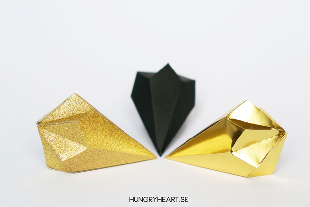DIY Paper Crystals with FREE Template | Hungry Heart