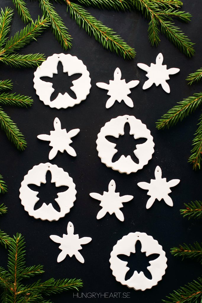 DIY Homemade Air Dry Clay Ornaments | Hungry Heart