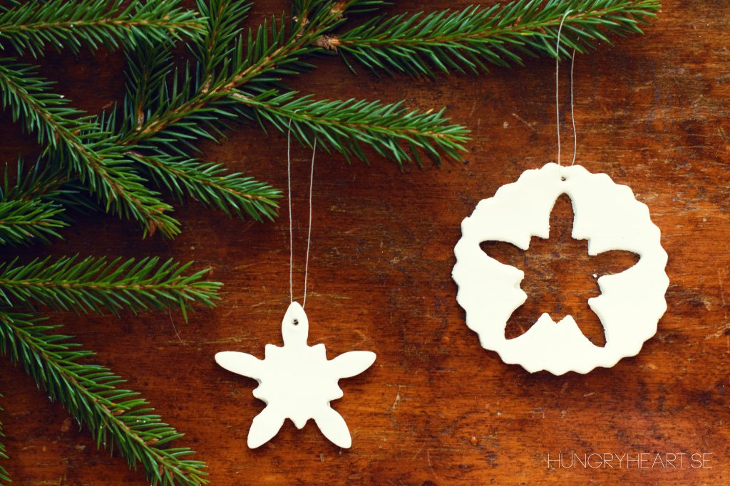 DIY Air Dry Clay Ornaments | Hungry Heart
