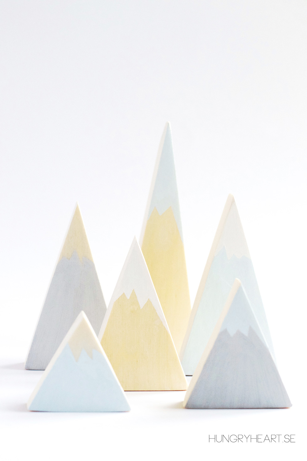 DIY Wooden Mountains | Hungry Heart