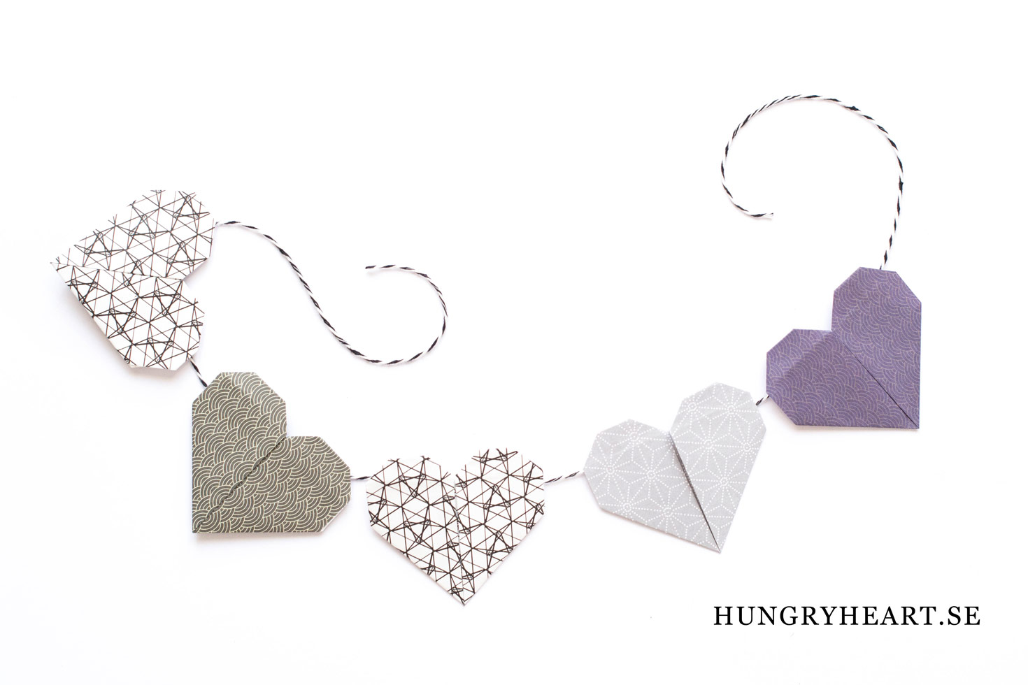 DIY Heart Garland | Hungry Heart