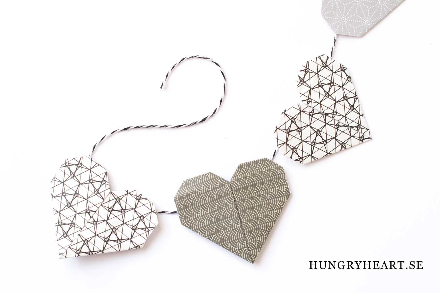 DIY Girlang med hjärtan | Hungry Heart