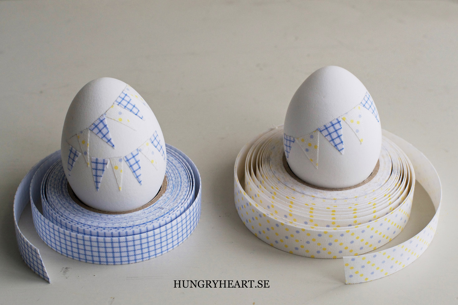 DIY Easter Eggs with Bunting | Hungry Heart