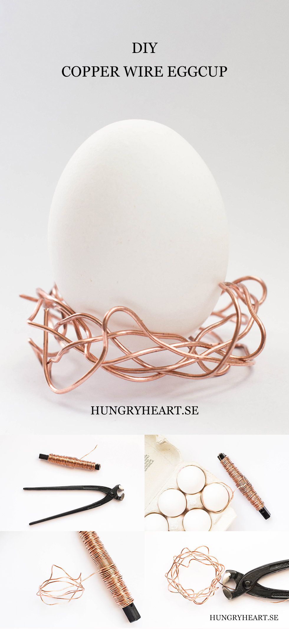 DIY Copper Wire Egg Cup | Hungry Heart