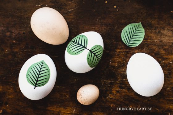 DIY Leaf Decoupage Eggs | Hungry Heart