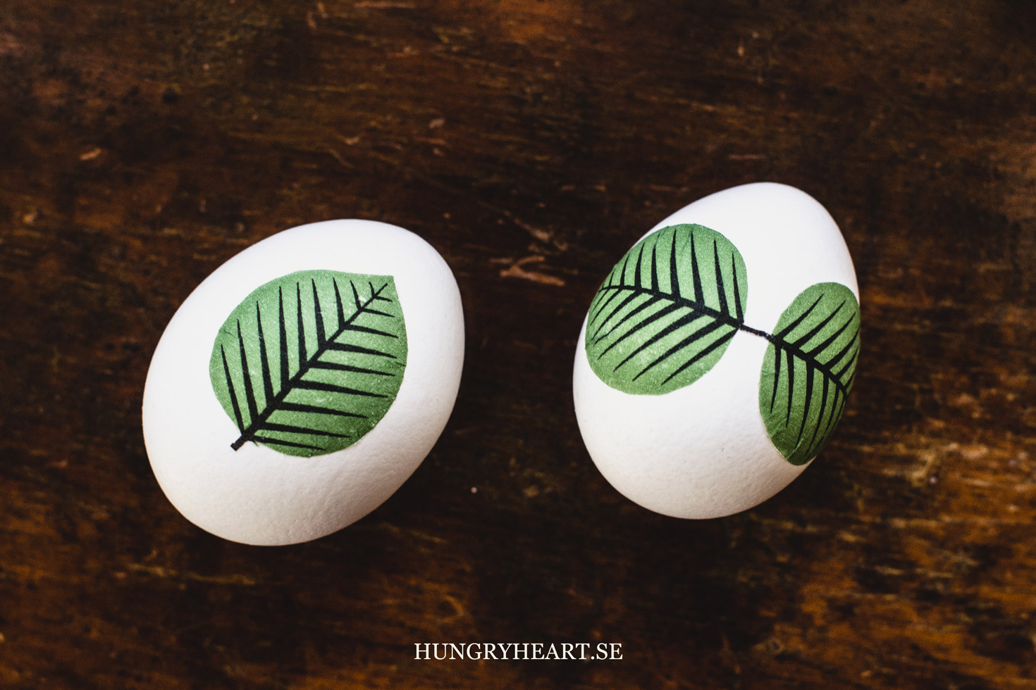 Leaf Decoupage Eggs | Hungry Heart