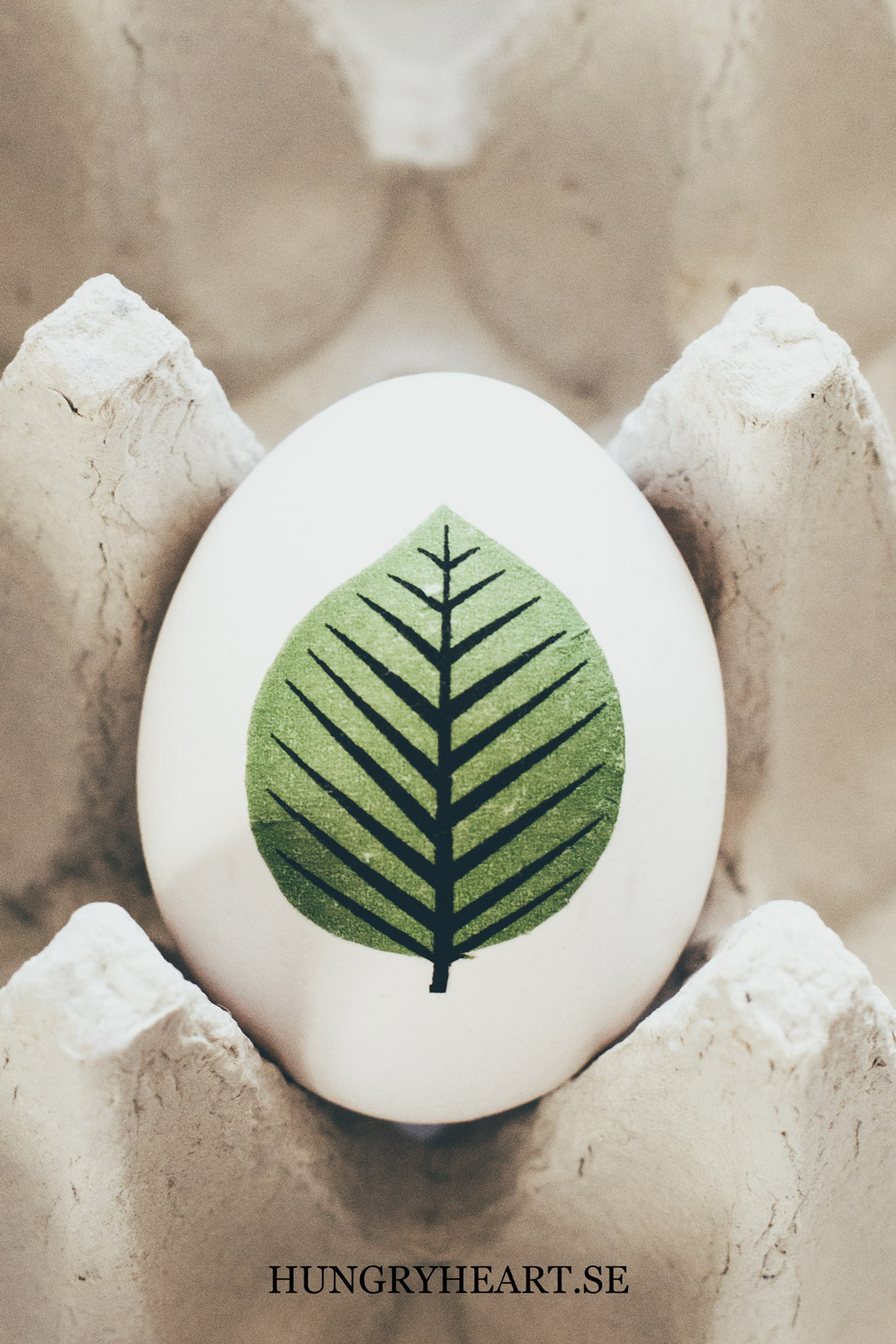 DIY Leaf Decoupage Egg | Hungry Heart