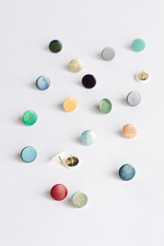 DIY Nail Polish Thumbtacks | Hungry Heart
